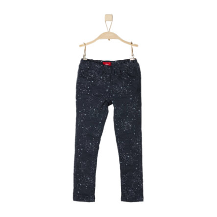 s.Oliver Byxor dark blue slim