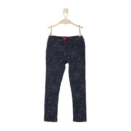 s.Oliver Girl s pantalon bleu foncé slim bleu foncé