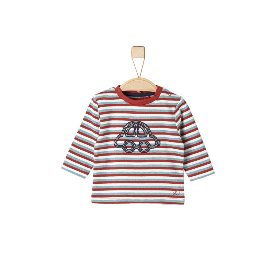 s.Oliver Långärmad tröja dark red stripes