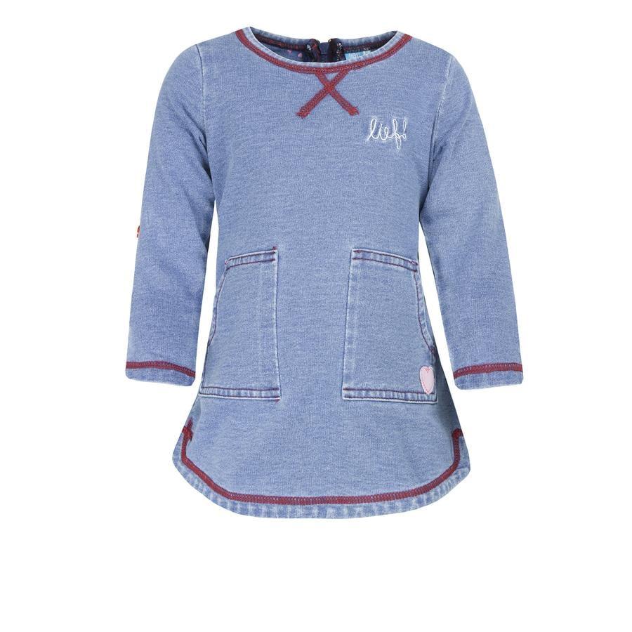 lief! Tyttöjen mekko sininen denim
