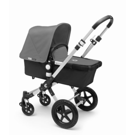 bugaboo Kinderwagen Cameleon 3 Plus Alu/Black inkl. Bekleidungsset Grey Melange