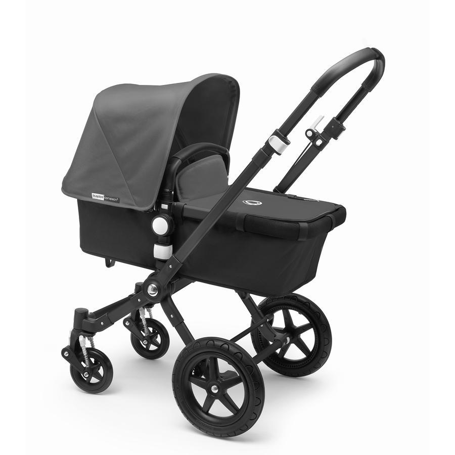 bugaboo Kinderwagen Cameleon 3 Plus Black/Black inkl. Bekleidungsset Grey Melange