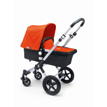 bugaboo Basis Cameleon 3 Plus Alu/Dark Grey inkl. Bekleidungsset Orange