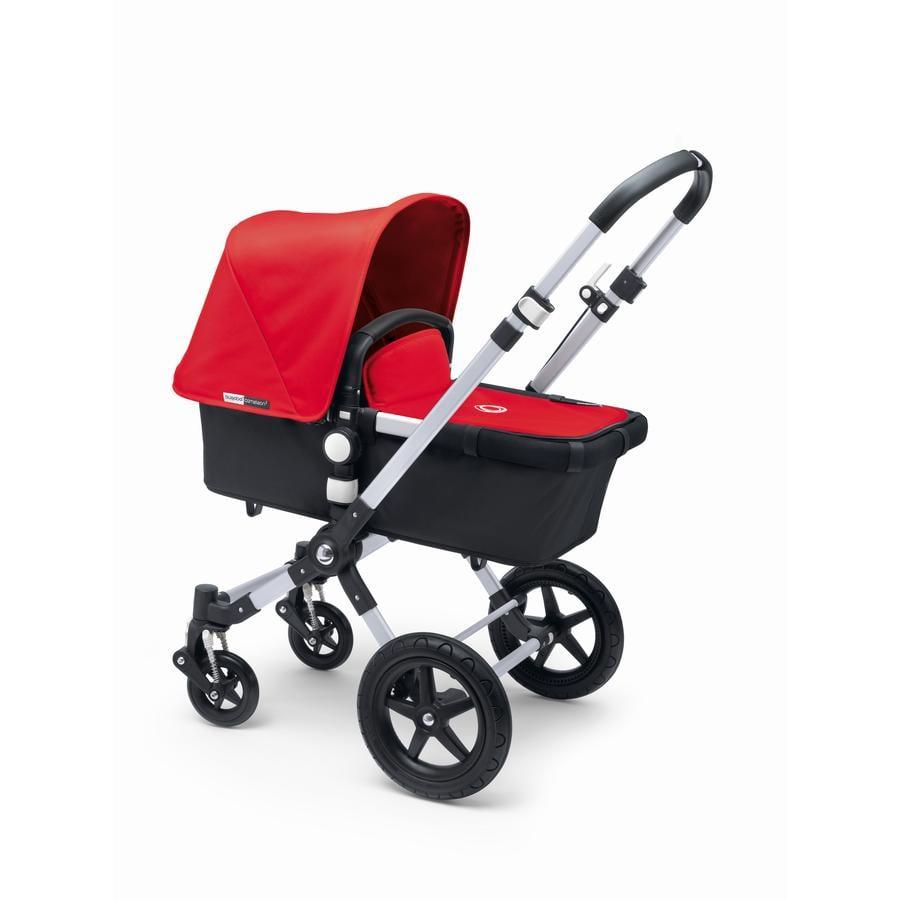 bugaboo Kinderwagen Cameleon 3 Plus Alu/Black inkl. Bekleidungsset Red