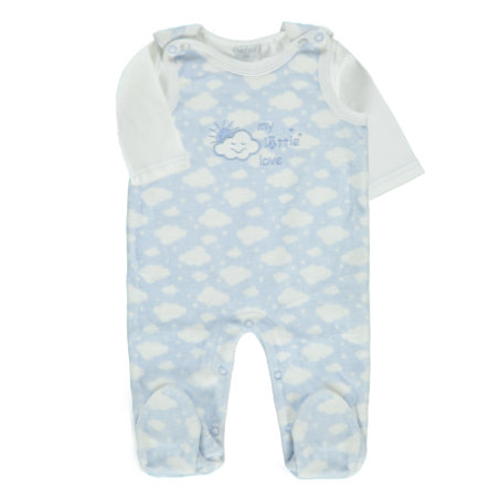 LITTLE Wolke Strampler Set blau