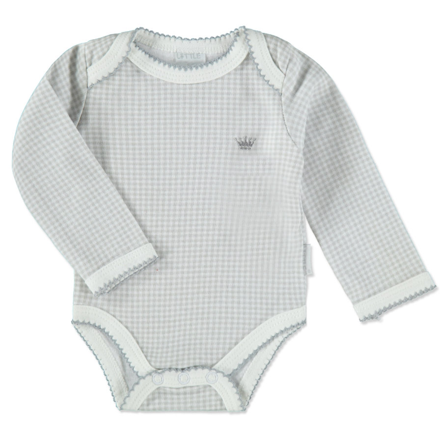LITTLE Baby Friends Forever Smart & Cosy Romper grijs