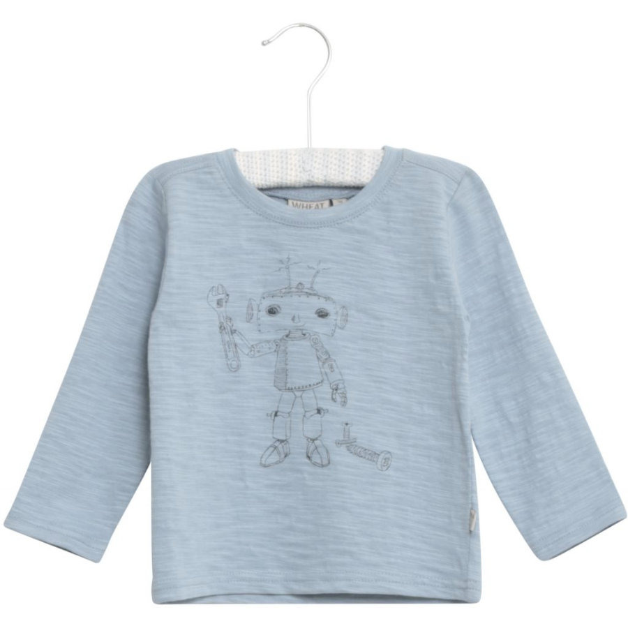 WHEAT Shirt Robot ashleyblauw