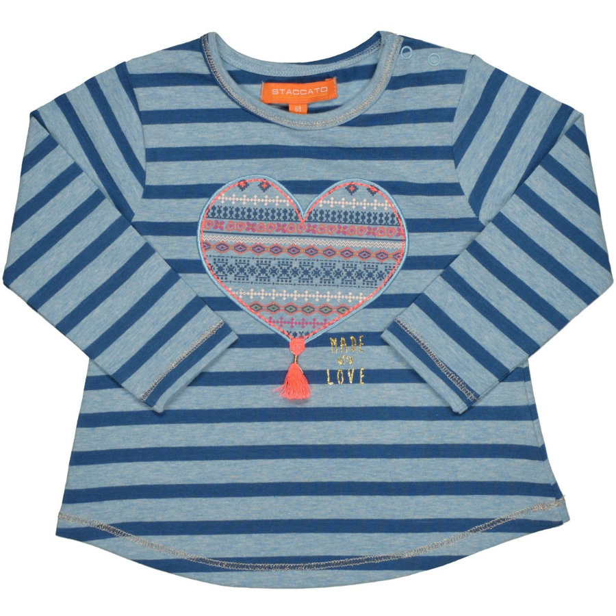 STACCATO Girls Shirt jeans blue Streifen