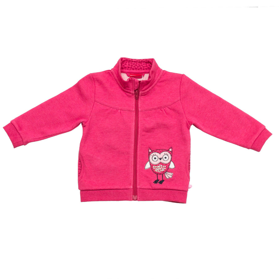 SALT AND PEPPER Girls Sweatjacke smart owl raspberry