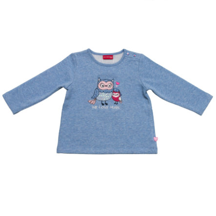 SALT AND PEPPER Girls Sweatshirt smart owl we love himmelblau