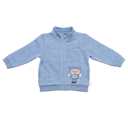SALT AND PEPPER Girls Sweatjacke smart owl himmelblau