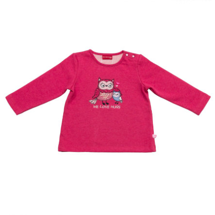 SALT AND PEPPER Girls Sweatshirt smart owl we love raspberry