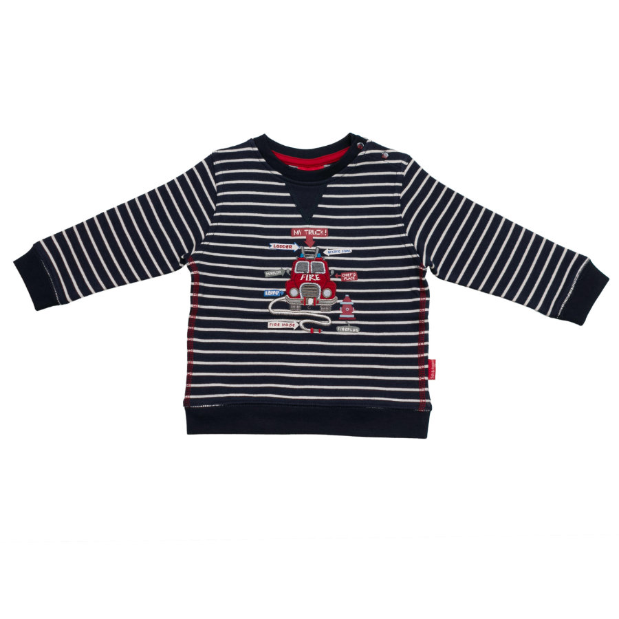 SALT AND PEPPER Boys Sweatshirt little fire chief stripe cobalt