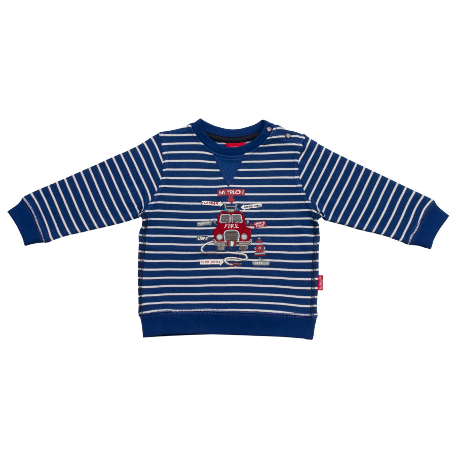 SALT AND PEPPER Boys Sweatshirt petit chef pompier à rayures ultramarine