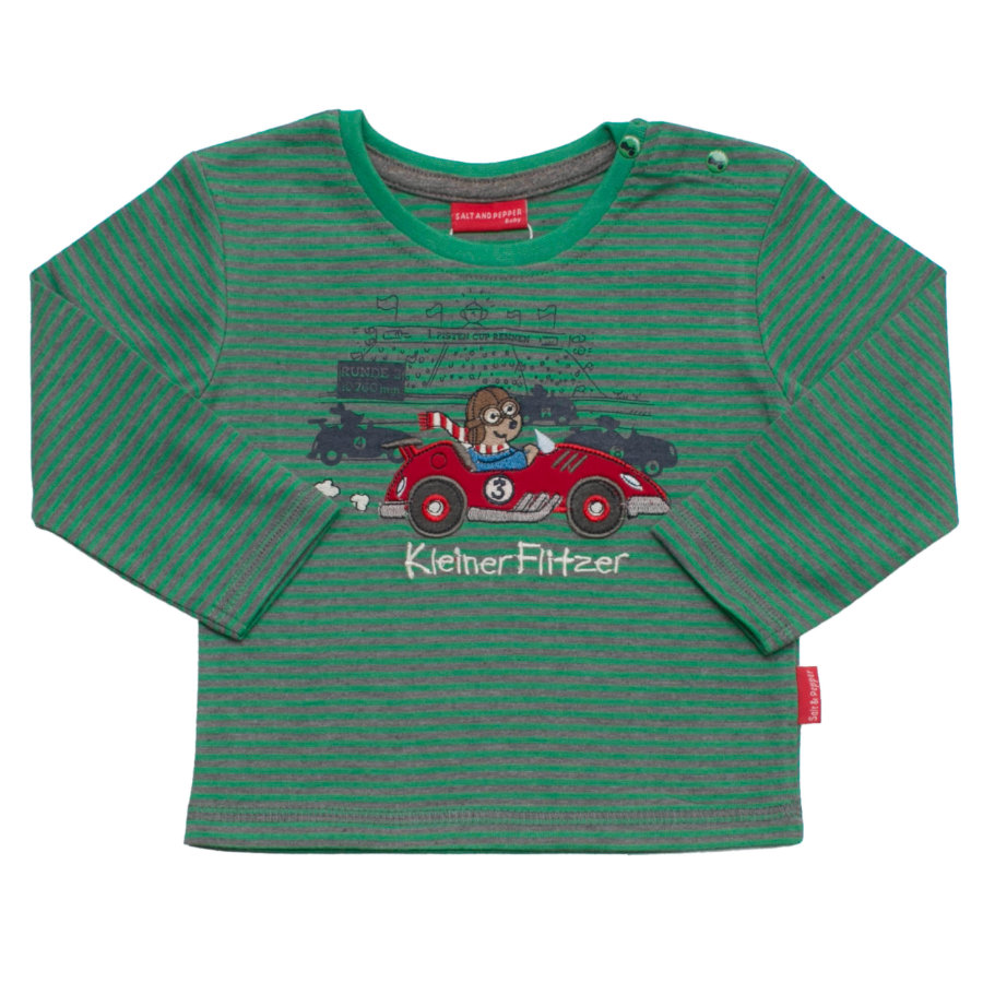 SALT AND PEPPER Boys Longsleeve keep moving stripe grün-melange