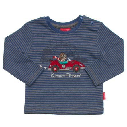SALT AND PEPPER Boys Longsleeve keep moving stripe blau-melange
