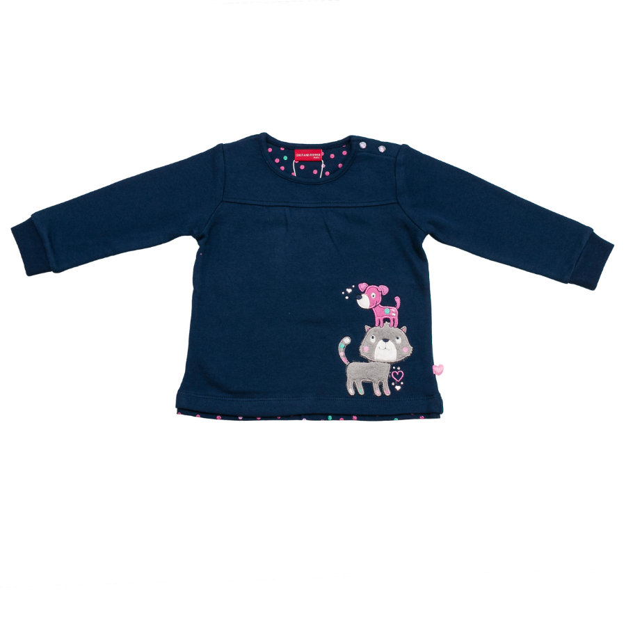 SALT AND PEPPER Girls Sweatshirt Katze Hund dutch blue