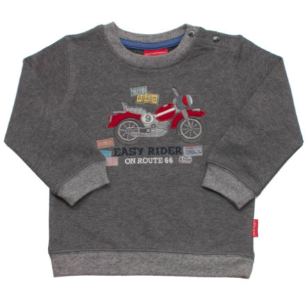 SALT AND PEPPER Boys Sweatshirt keep moving bike dunkelgrau-melange