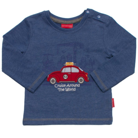 SALT AND PEPPER Boys Longsleeve keep moving blau-melange