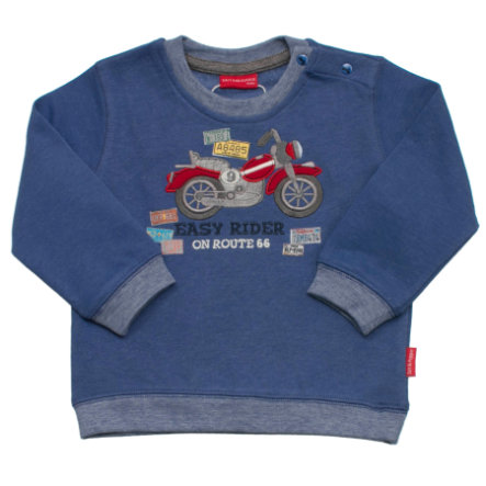 SALT AND PEPPER Boys Sweatshirt keep moving bike blau-melange