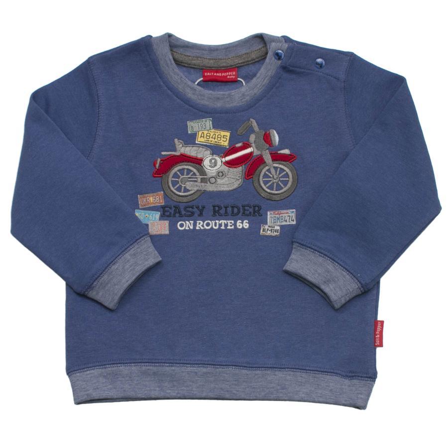 SALT AND PEPPER Boys Felpa continua a muoversi in bicicletta blu-melange