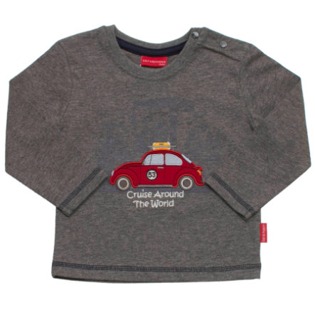 SALT AND PEPPER Boys Longsleeve keep moving dunkelgrau-melange