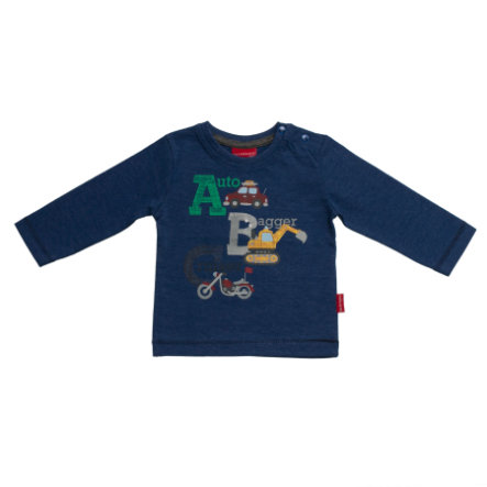 SALT AND PEPPER Boys Longsleeve ABC blue melange