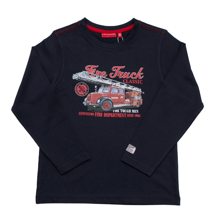 SALT AND PEPPER Boys Longsleeve Firefighter Truck cobalt