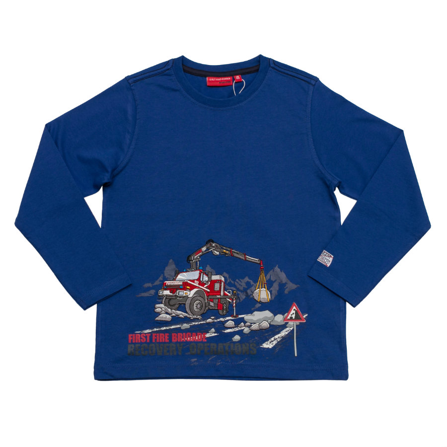 SALT AND PEPPER Boys Longsleeve Firefighter first ultramarin