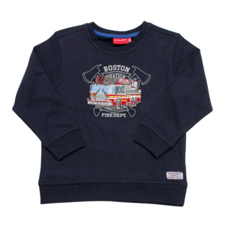SALT AND PEPPER Boys Sweatshirt Pompier dos cobalt