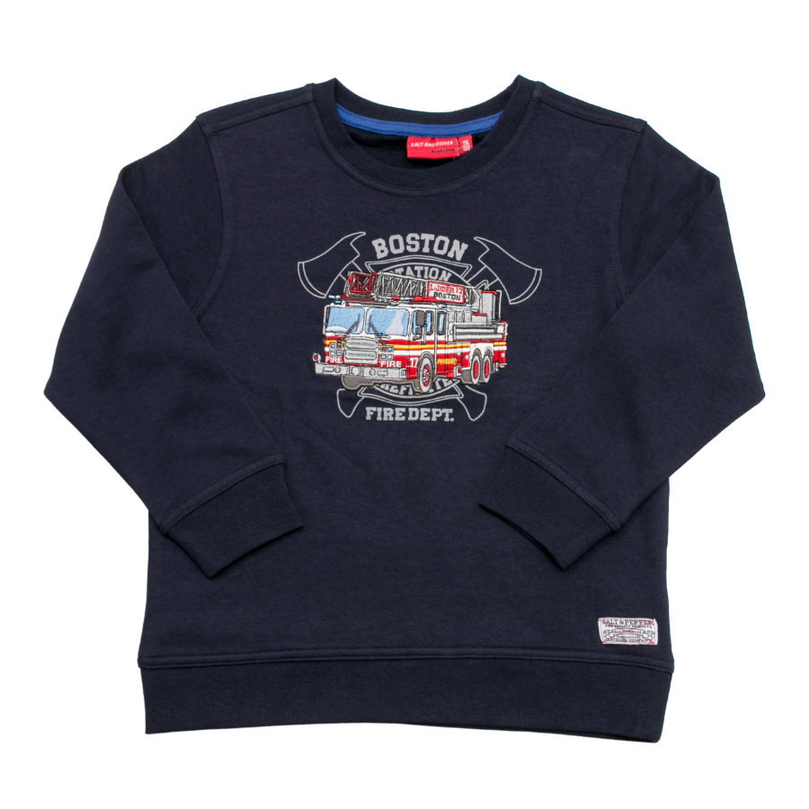 SALT AND PEPPER Boys Sweatshirt Firefighter back cobalt