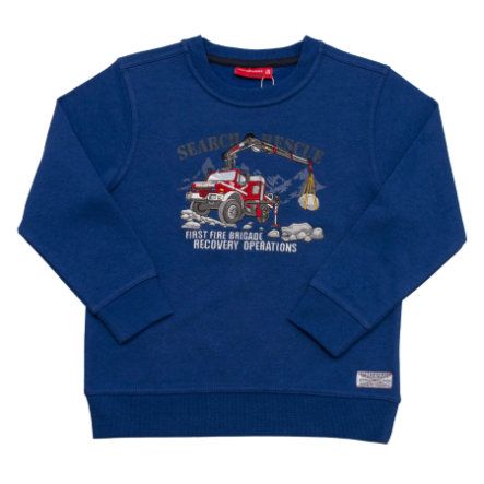 SALT AND PEPPER Boys Sweatshirt Pompier Equipe de Sauvetage Pompiers Outremer