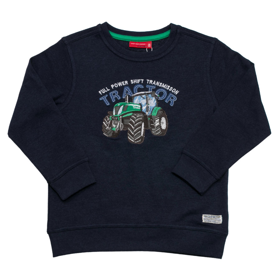 SALT AND PEPPER Boys Sweatshirt Traktor back cobalt melange