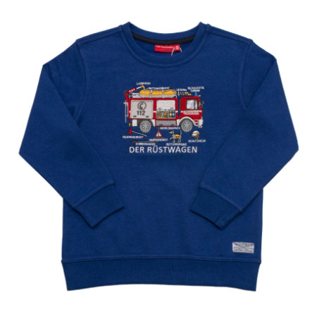 SALT AND PEPPER Boys Sweatshirt Firefighter ultramarin