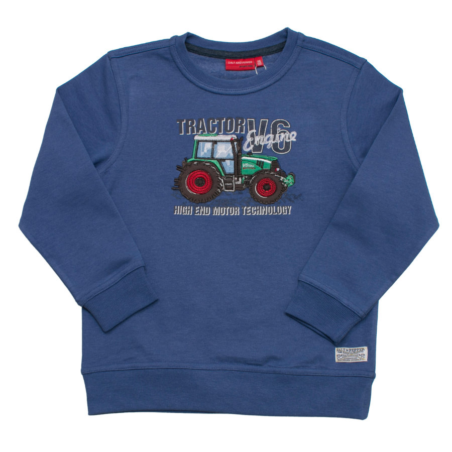 SALT AND PEPPER Boys Sweatshirt Farmer engine blue melange