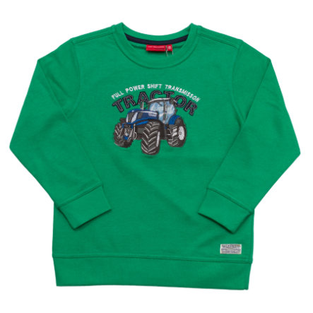 SALT AND PEPPER Boys Sweatshirt Traktor back green melange