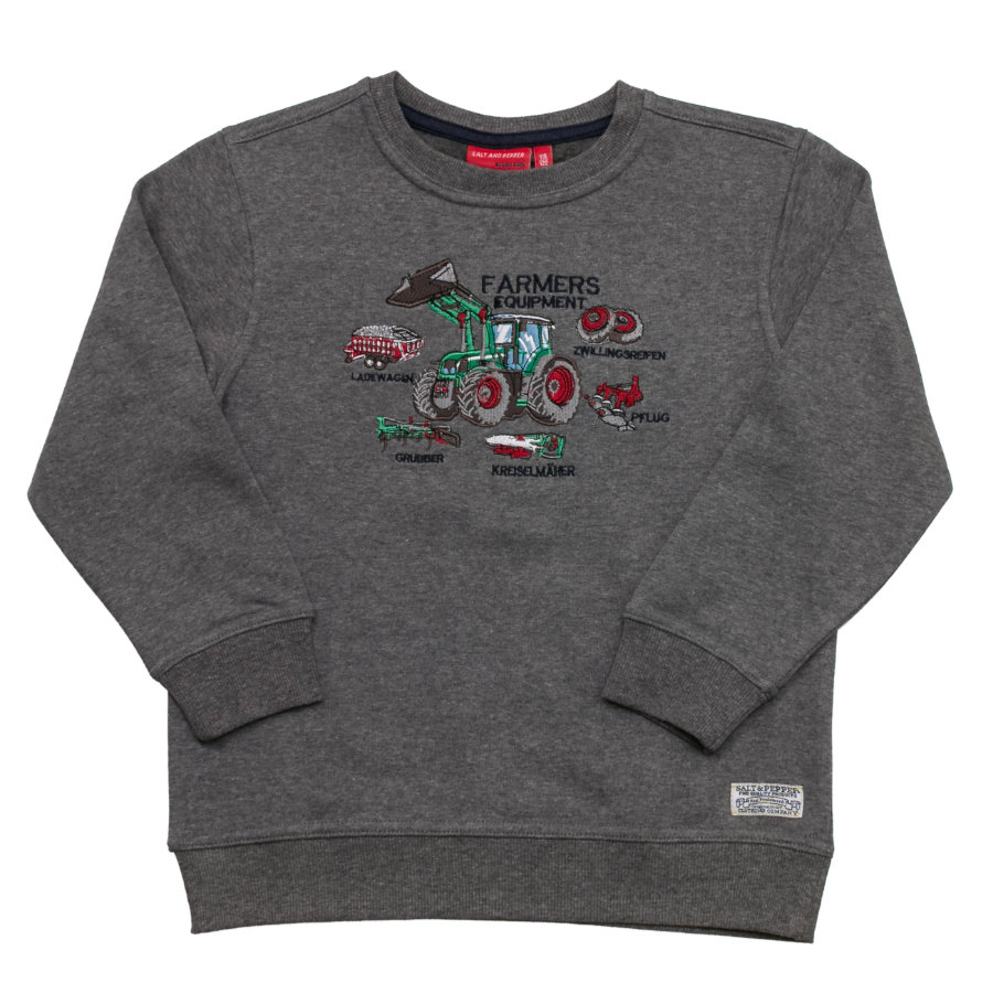 SALT AND PEPPER Boys Sweatshirt grey melange