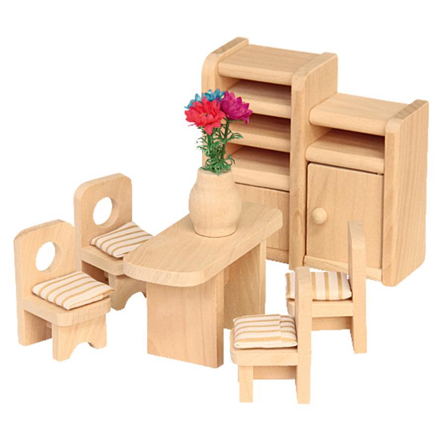 beluga Muebles de casa de muñecas comedor