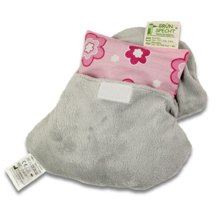 GRÜNSPECHT Traubenkernkissen Wärmezoo Elefant grau mit Bezug