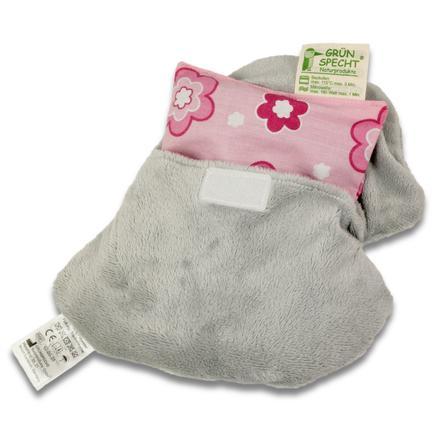 GRÜNSPECHT Třešňový hřejivý polštářek slon šedý s potahem