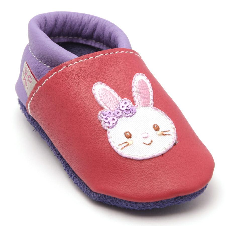 TROSTEL Girl s crawling scarpa coniglietto rosa/viola
