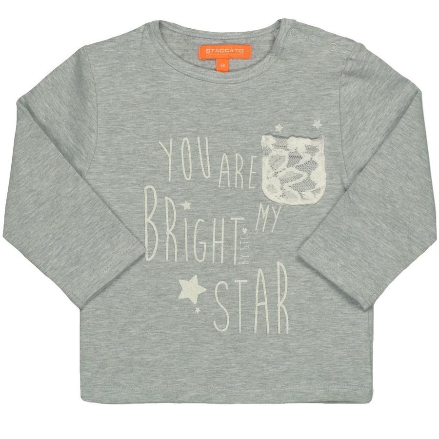 STACCATO Girl s Bluza bluza jasnoszara melanżowa