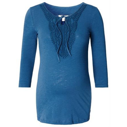 ESPRIT Langærmet blå til gravide under barsel