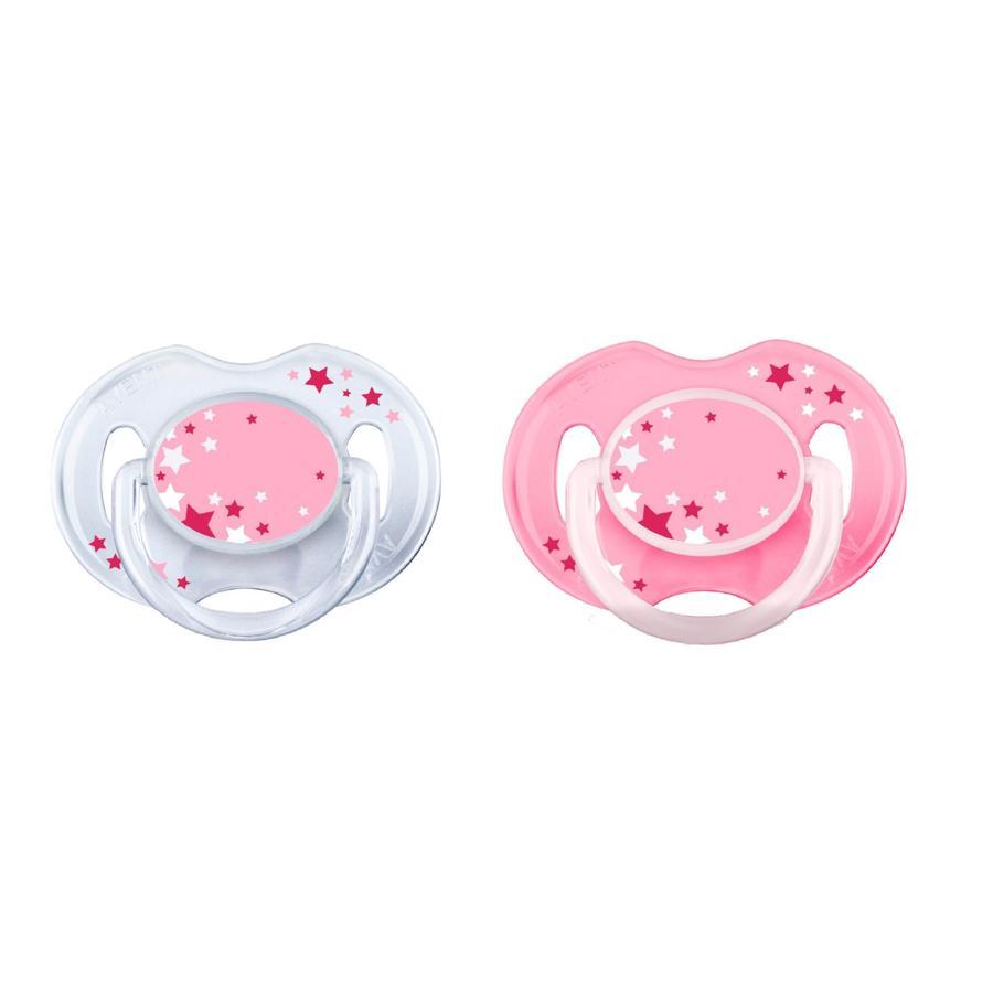 Philips Avent Chupete Classic SCF176 / 28 rosa para la noche 0 - 6 meses 2 piezas