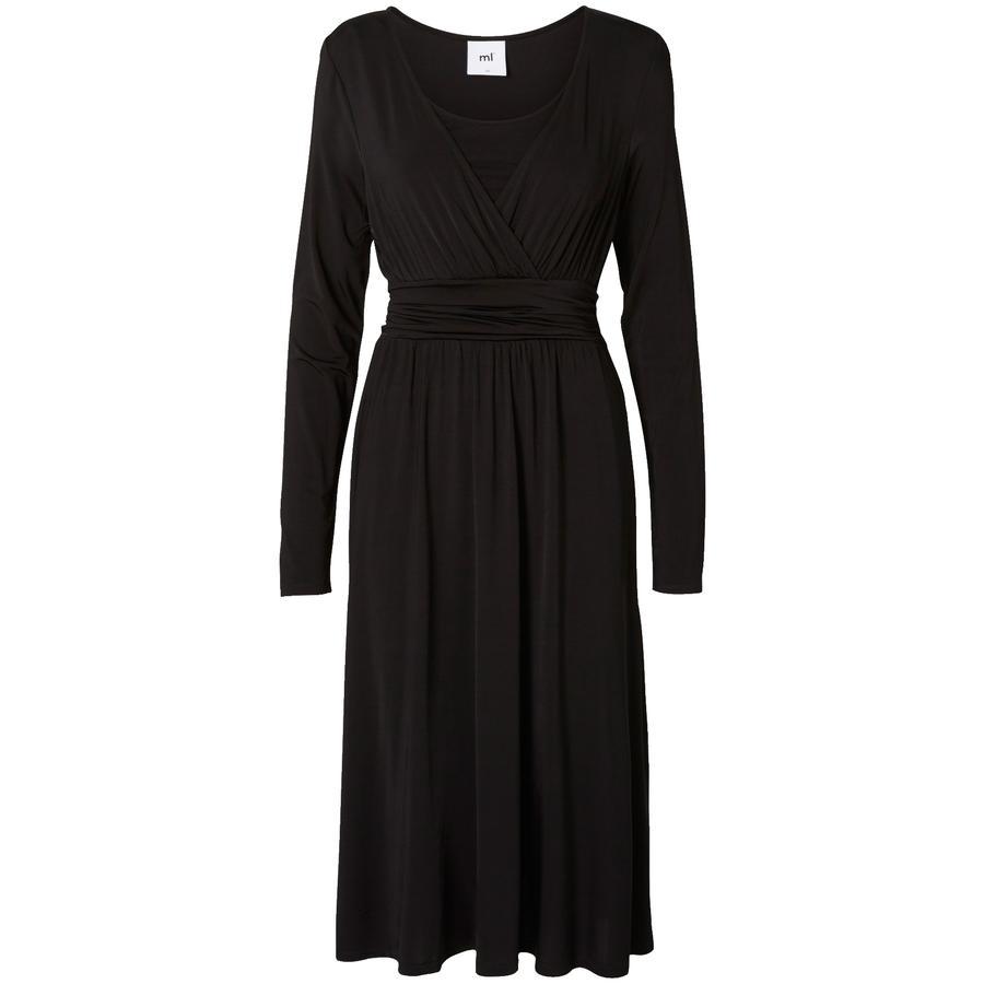mama licious Zwangerschapsverzorging jurk MLMETTE TESS zwart