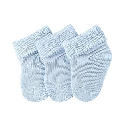 Sterntaler Chaussettes bébé bleu 3 pièces