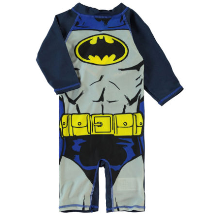 name it Boys UV Swimsuit Superheroes dress blues