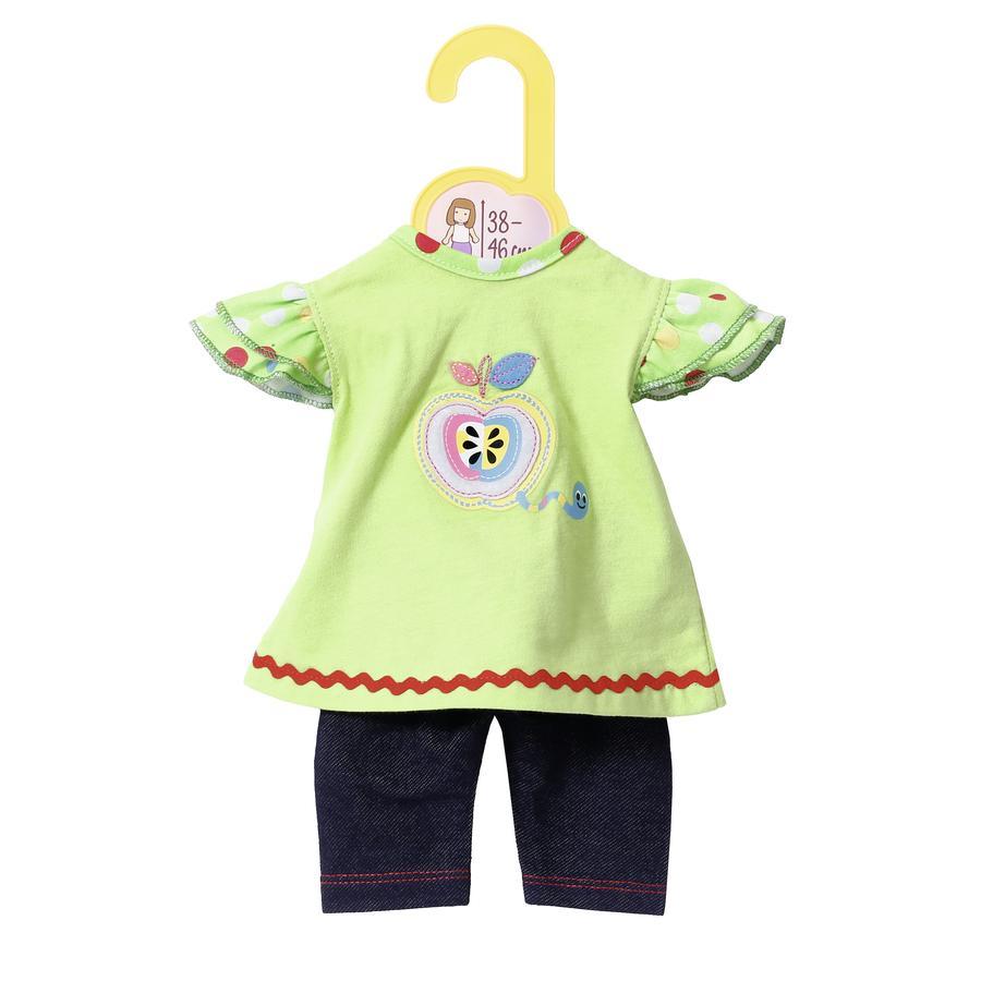 Zapf Creation  Dolly Moda : Shirt avec Leggings 38 à 46 cm