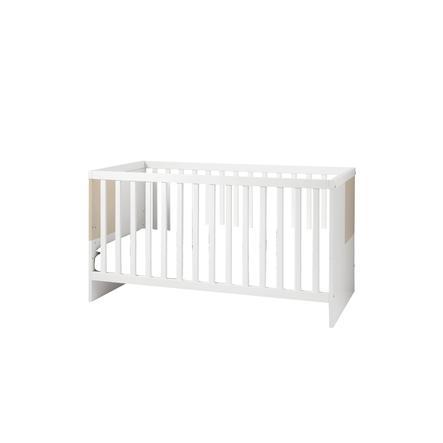 WELLEMÖBEL Kinderbett Luna weiß / macchiato Hochglanz