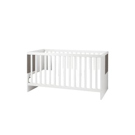 WELLEMÖBEL Kinderbett Luna weiß / lava Hochglanz
